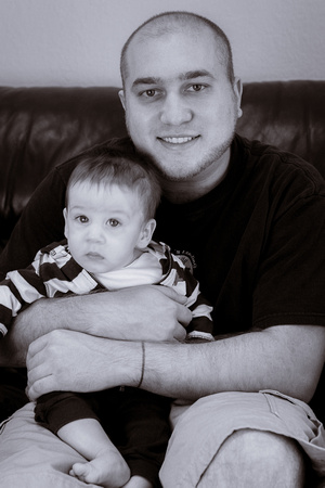 Baby Tyler and Dad Tyson